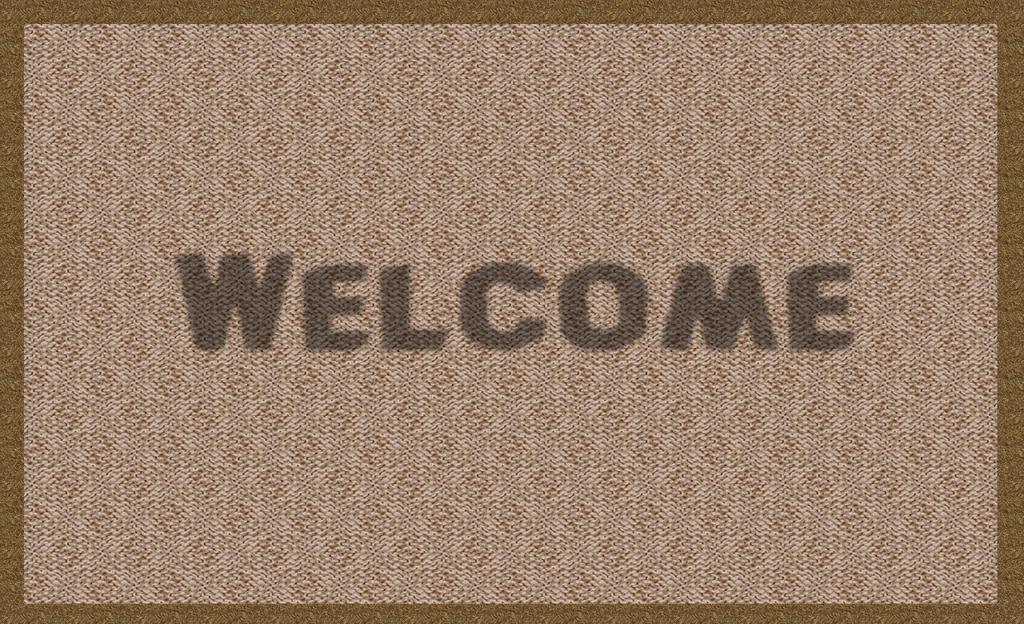 Felpudo de bienvenida a tu nuevo hogar.Las verdaderas compradoras de vivienda